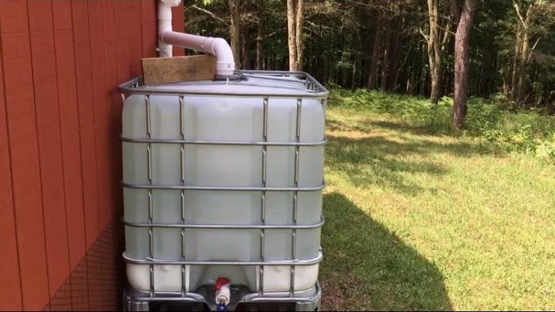 Cómo recoger agua de lluvia