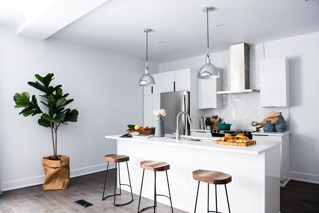 Cocina con diseño minimalista