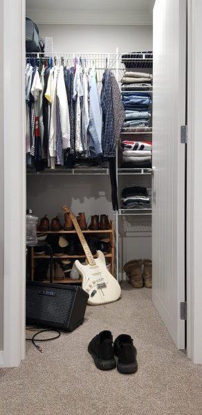 Parte baja del armario para zapatos