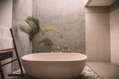 bañera minimalista