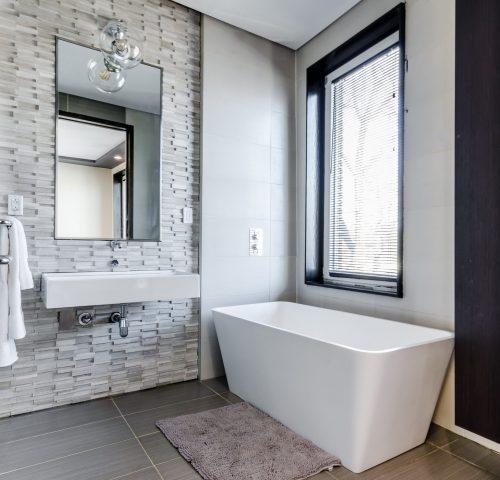 pared de piedra para baño