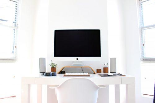 paredes de una oficina en casa