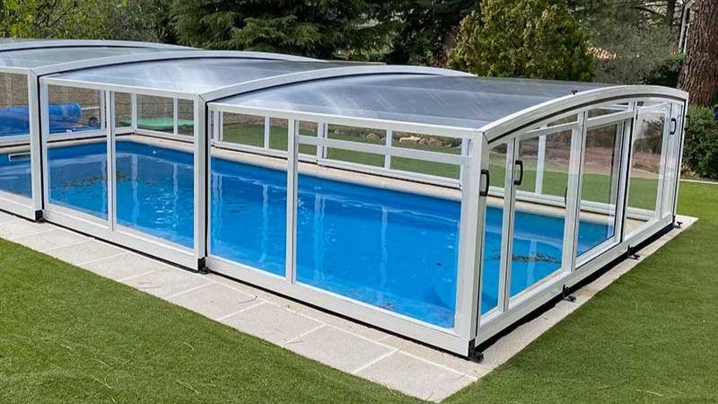ejemplo de cubierta de piscinas bajas